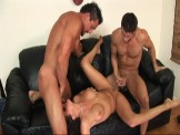Cock Hungry Porn star Rammed by Two Dicks!