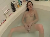 MILF Bath time solo masturbation